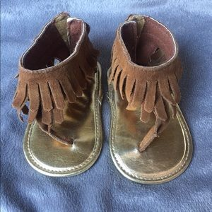 Other - Baby Moccasin Style Sandals w/ Velcro back Size 2